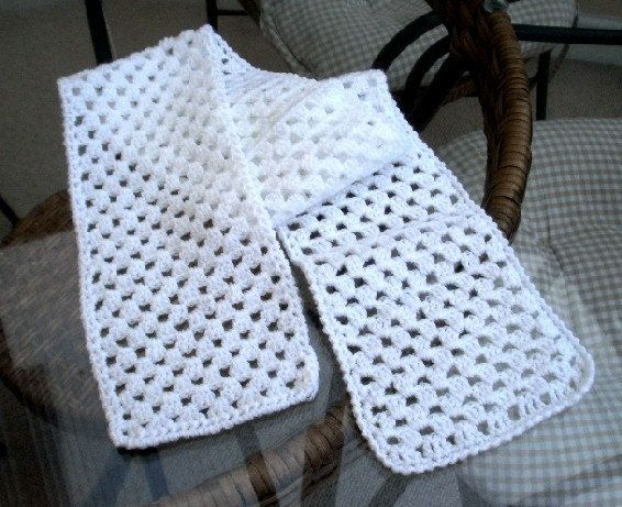 CROCHET PATTERN pdf, quick and easy crochet granny scarf ...