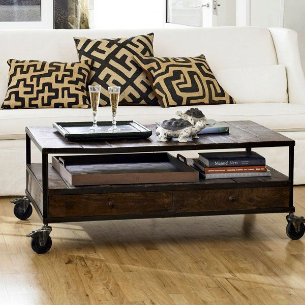 Rustic Coffee Table With Wheels Digs Pinterest
