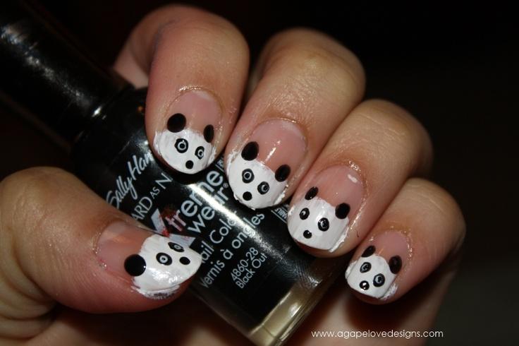 Agape Love Designs & Photography: DIY Panda Manicure!