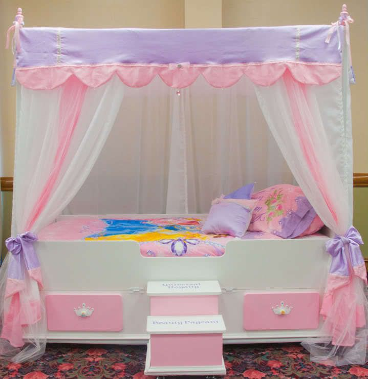 twin ultimate princess canopy bedding girls bed canopy bed girls furniture. Black Bedroom Furniture Sets. Home Design Ideas