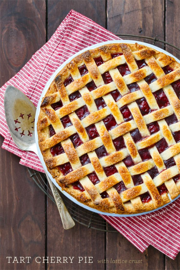 Classic Tart Cherry Pie with Lattice Crust