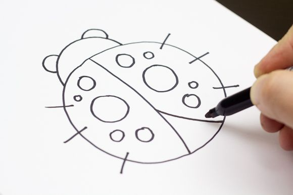 Ladybug drawings for kids - photo#8