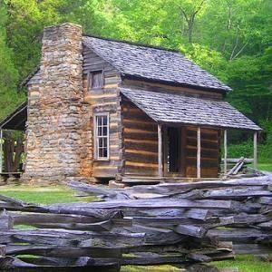 Log + chinking cabin. | Cabins | Pinterest
