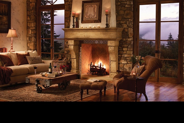 Cozy fireplace home decorating ideas pinterest for Cozy living room with fireplace