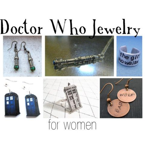 Doctor Who jewelry for women      String jewelry, $10EarringsEtsy, $25Bad Wolf Earrings Hand Stamped Copper Doctor Who by oneeyedfox, $12Doctor Who Inspired The Girl Who Waited by chasingatstarlight, $12Eleventh Doctor Sonic Screwdriver dangle by RainfallArtistries, $9
