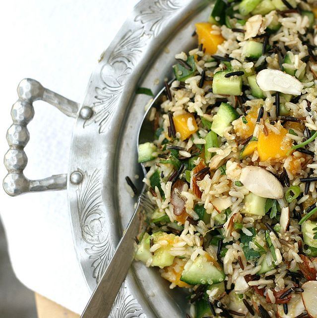 MANGO-CUCUMBER RICE SALAD.. - Recipe Courtesy of 'Perry's Plate'.