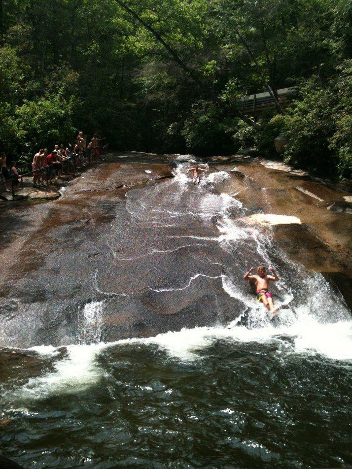 Sliding rock, NC