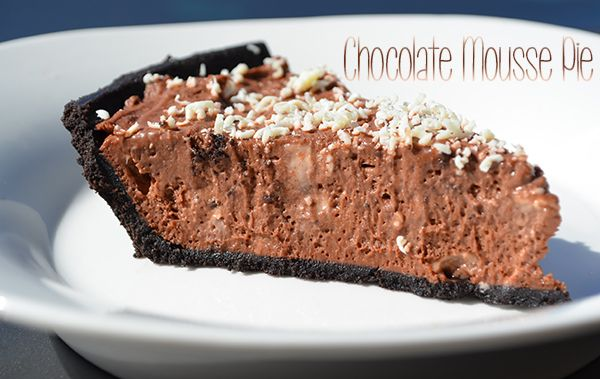 Easy No-Bake Chocolate Mousse Pie in Oreo Crust #chocolateheaven
