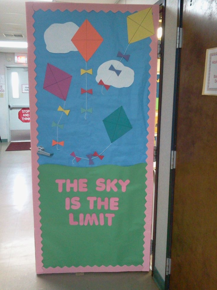 Classroom Door Decor For Spring : Spring door i made for my classroom happy time pinterest
