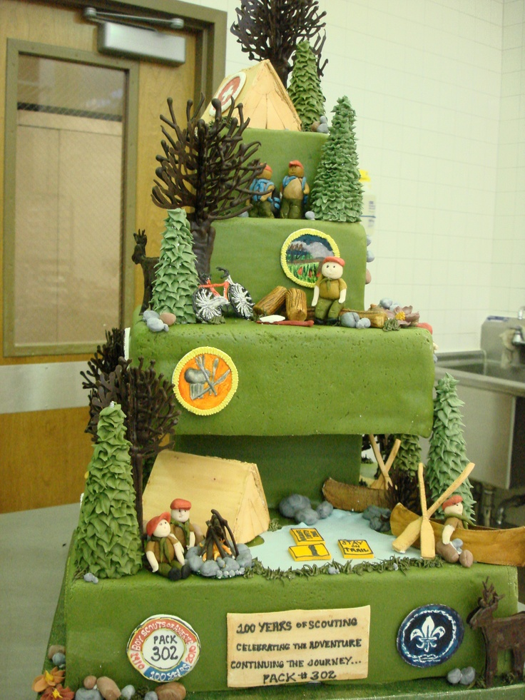 Cake Decorating Ideas For Boy Scouts : Ahh so cool! Boy Scout Cake Venturing! Pinterest