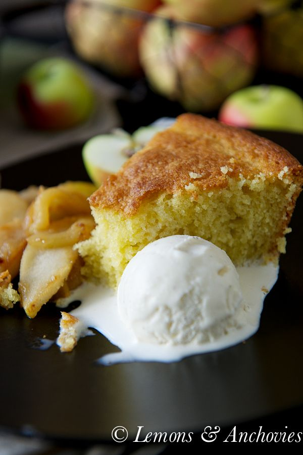 Olive Oil Cake with Sautéed Apples & Pears @Jean Pope | Lemons ...