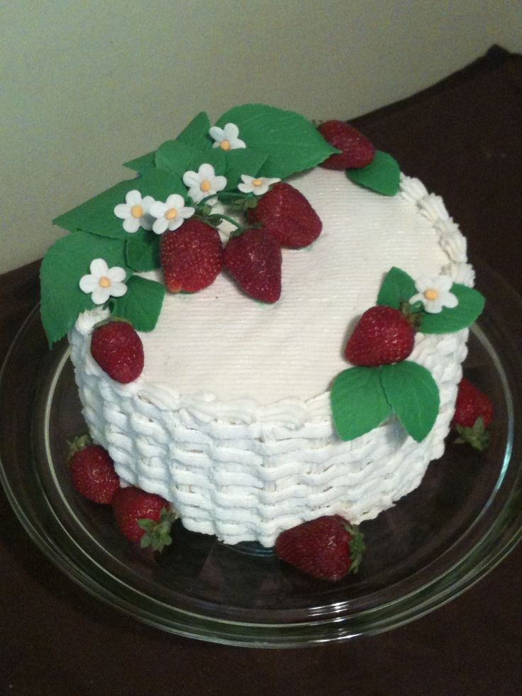 ... strawberries. I made on orange dreamcicle cake with fresh strawberry