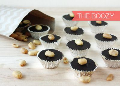 Cookie Week} Homemade Peanut Butter Cups with Bourbon