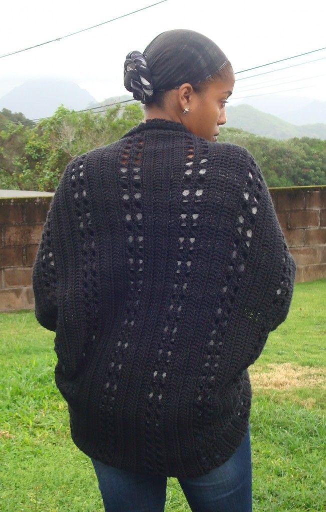 Crochet X-Stitch Shrug Free Pattern : just finished Deanna Youngs Crochet X-Stitch Shrug. It looks a lot ...