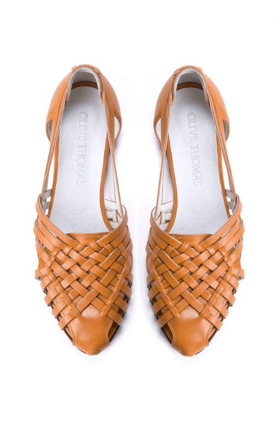 Cool Saint Laurent Womens Tan Strappy Flat Leather Sandals  Cofov