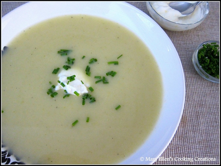 Potato, Green Cabbage, and Leek Soup with Lemon Crème Fraîche from ...