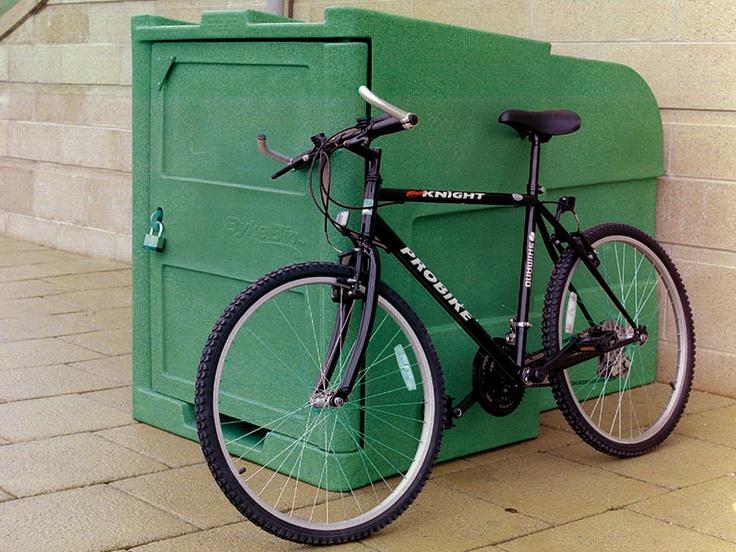 Byke Bin Cycle Locker Side View Outdoor Bike Storage