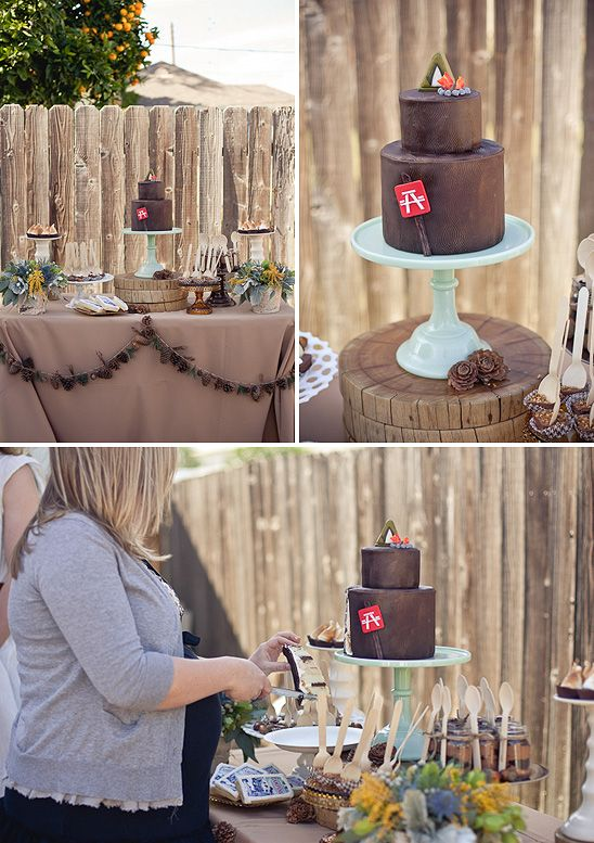 camping themed baby shower dessert tables pinterest