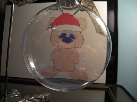 Adorable christmas bear floating ornament by scrappingwithlisa 10 00