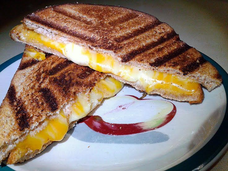 "fancy grilled cheese! ""I used a blending of 5 Cheese's. Sharp chedda..."