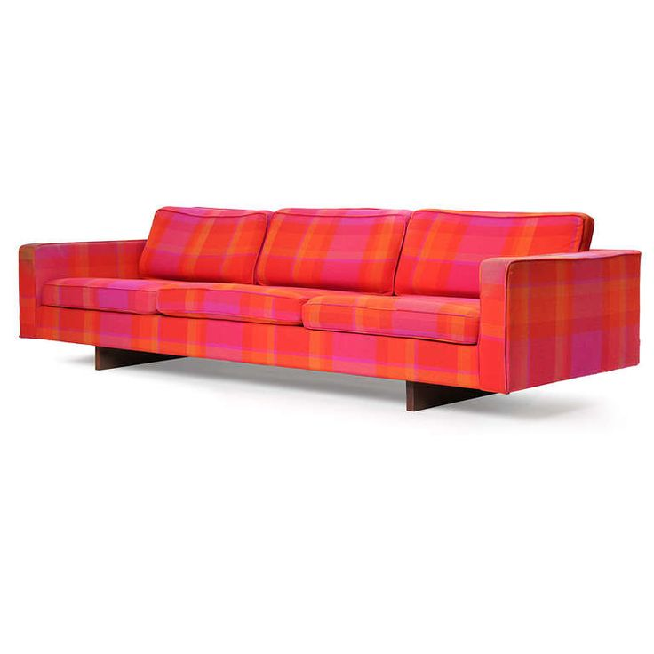 vibrant plaid sofa mid century modern seating pinterest. Black Bedroom Furniture Sets. Home Design Ideas