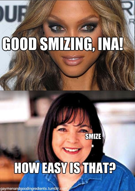 tyra banks ina garten now that 39 s something to smize about