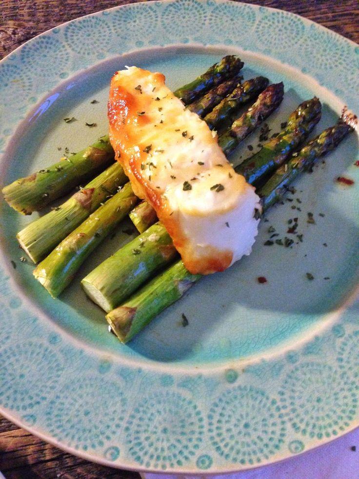 miso sea bass with roasted asparagus | TV Dinner | Pinterest
