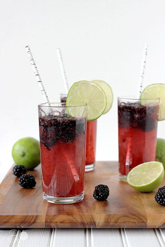 Fizzy Blackberry Limeade | Last Call | Pinterest