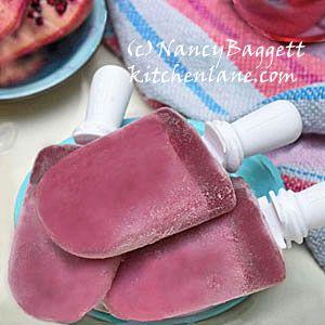 Pomegranate-Honey-Yogurt Pops-Cooling, Healthful, Delish