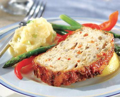 Turkey Meatloaf w Lemon Rosemary Glaze   Busch's Recipes