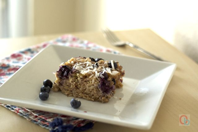 Baked Blueberry-Coconut Oatmeal Recipe | Breakfast | Pinterest