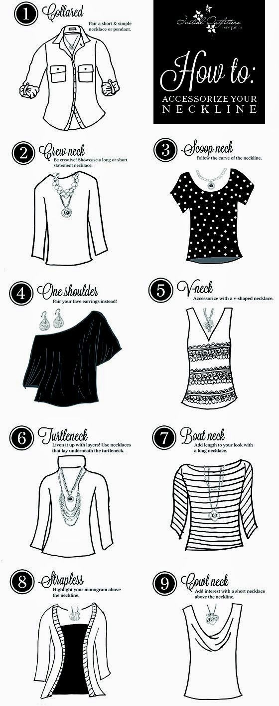 How to accessorize with different necklines!