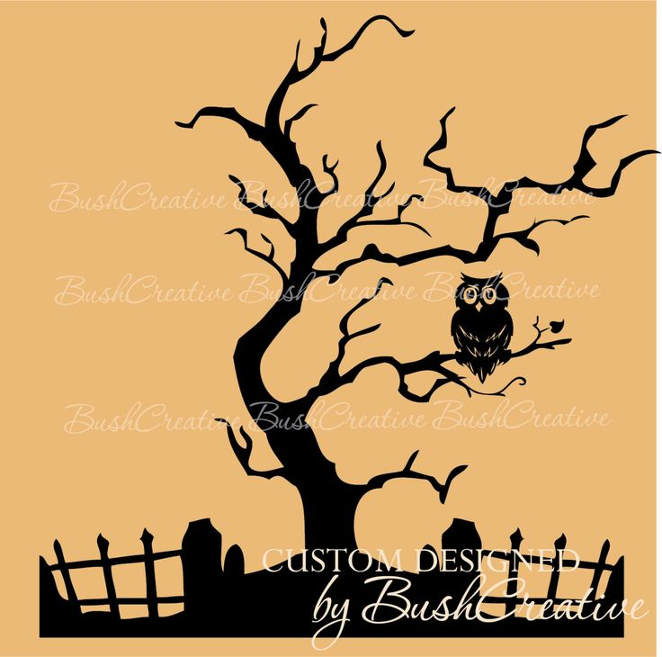 Owl in tree silhouette clip art - crazywidow.info