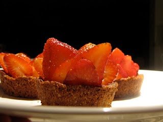 ... dessert. Strawberry Tarts with Ginger-Nut Crust is a show stopper