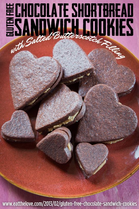 Gluten Free Chocolate Shortbread Sandwich Cookies with Salted Butters ...
