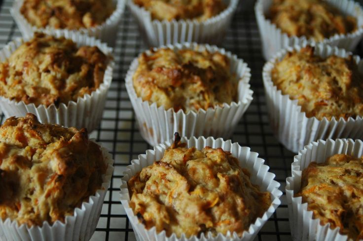 Carrot and Cheddar Muffins | Yum! | Pinterest