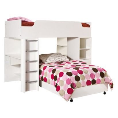 Sand Castle Loft Bed - Pure White (Twin)