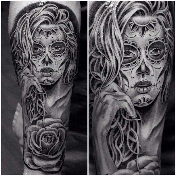 Sugar Skull Tattoo Black And Grey Sugar skull tattoo - black and