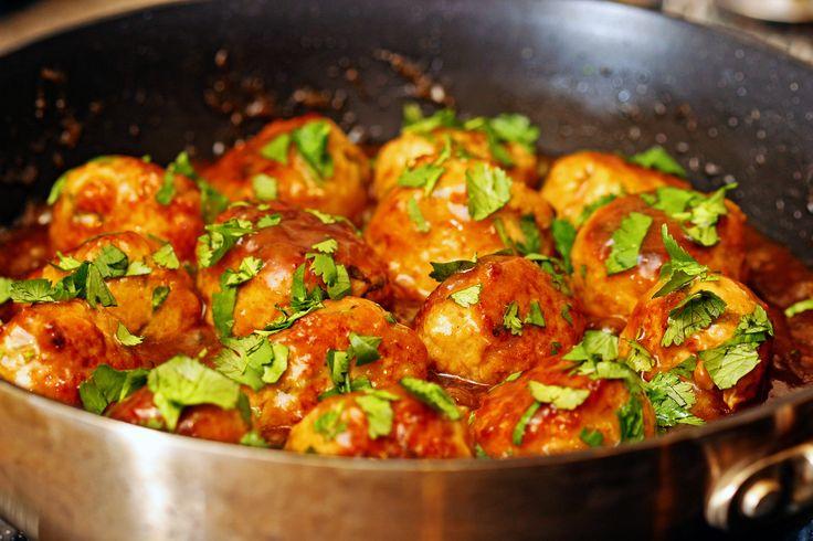 Lemon Cilantro Chicken Meatballs | Recipe