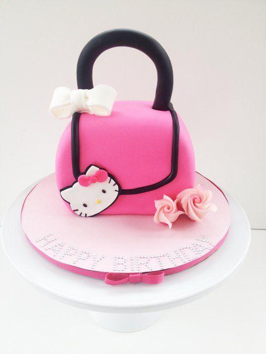 Hello Kitty handbag cake for little (and big) girls.