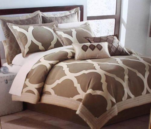 Arrow milano jacquard 8 piece queen comforter bedding set ...