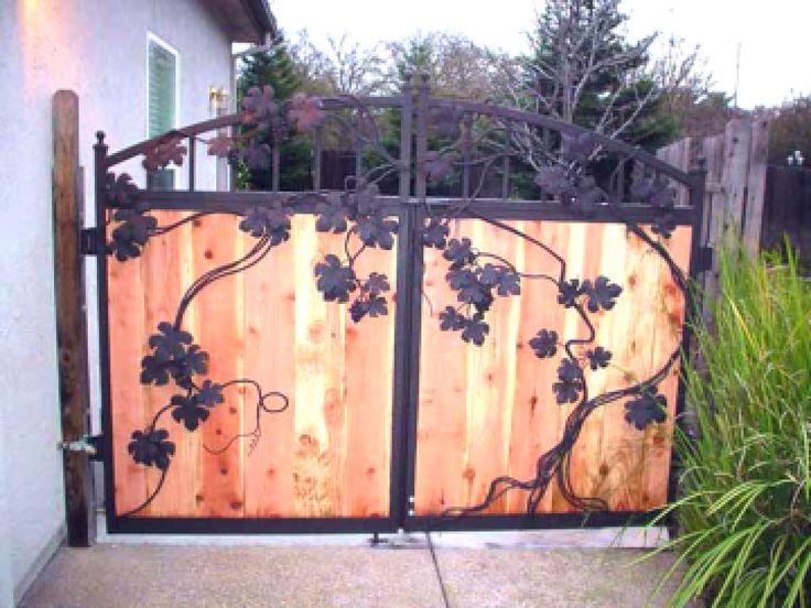 Как украсить ворота своими руками фото 328