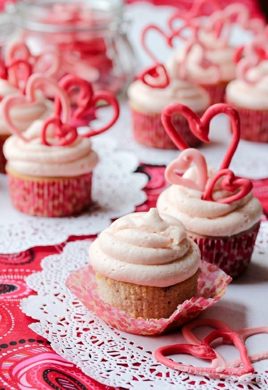 Cherry Buttermilk cupcakes with Cherry Buttercream Frosting...