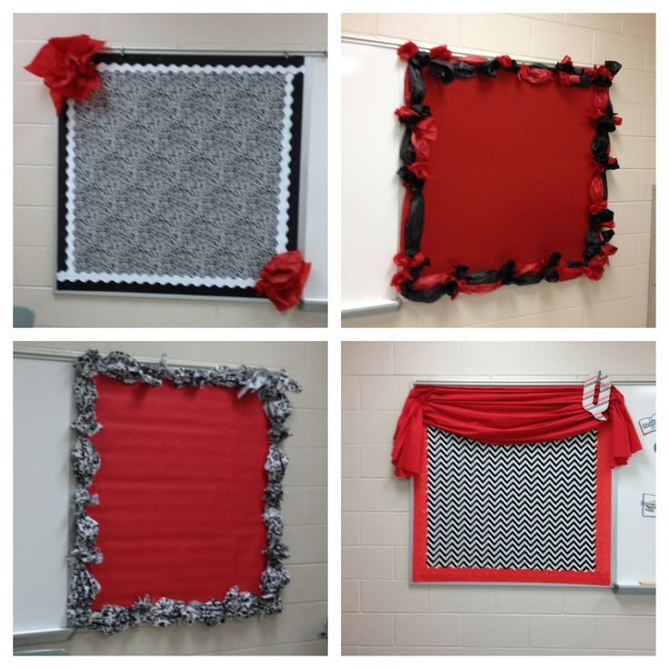 Classroom Decor Black And White : Black white red classroom bulletin boards posters