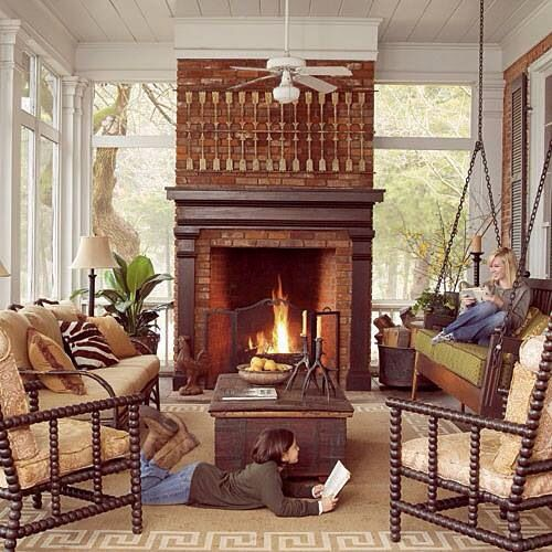 Fireplace screened porch home ideas pinterest for Screened in porch fireplace ideas
