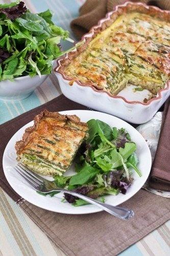 Grain free asparagus quiche [grain free, gluten free, vegetarian]