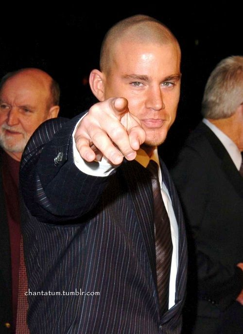 Channing is pointing at me!   ♛CHANNING TATUM♛   Pinterest Channing Tatum
