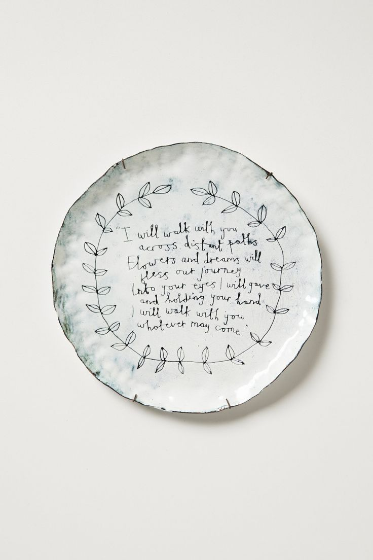 Pin by kathryn prescott on new home decorating ideas for Calligrapher canape plate anthropologie
