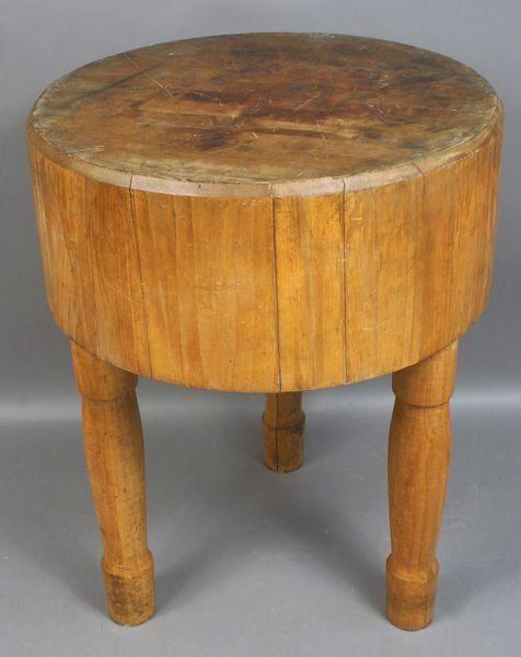 round butcher block table patio pinterest