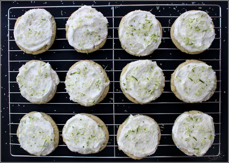 Key Lime Sugar Cookies - A Dash of Sanity